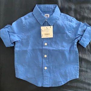 NWT Janie & Jack baby boys linen shirt size 3-6 mo